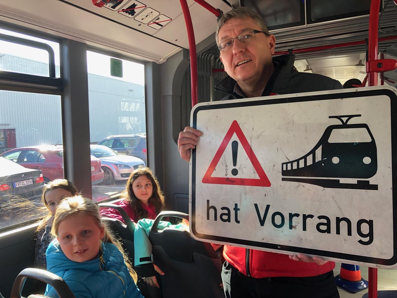Verkehrssicherheitstraining bei der VAG Freiburg