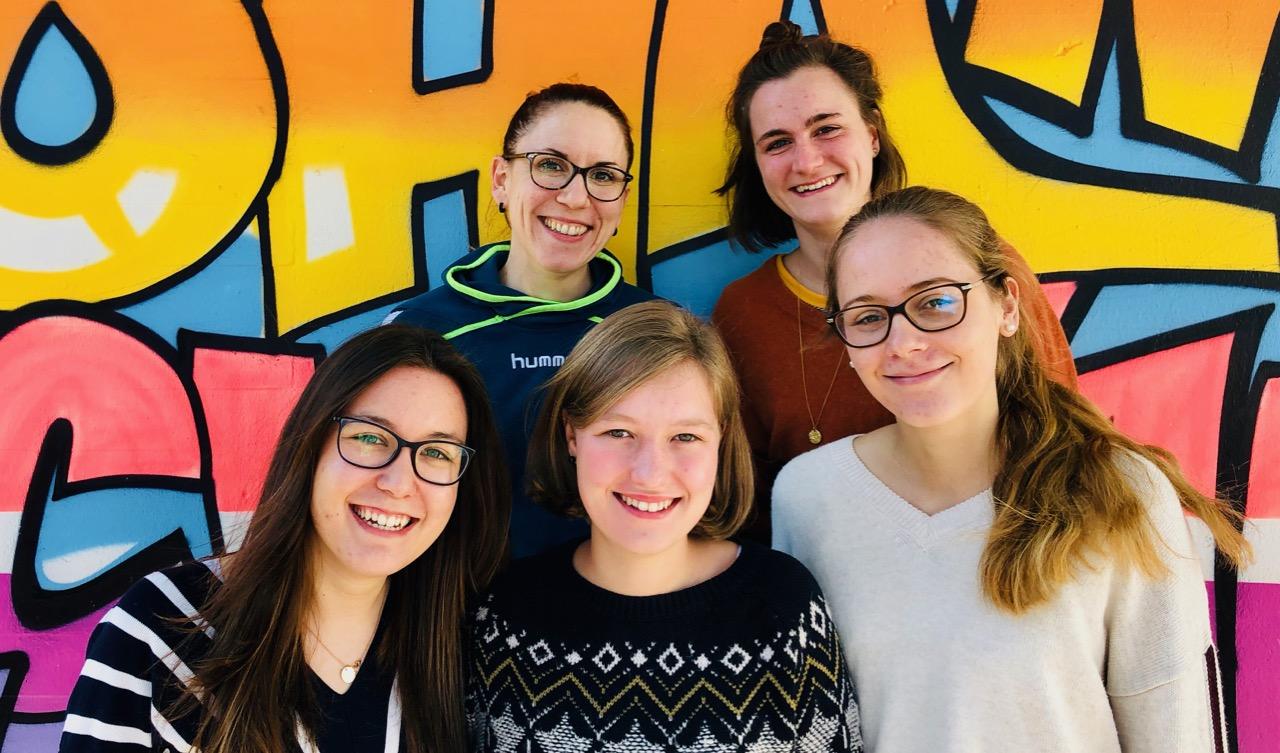 Die neuen ISP-Studentinnen an der JSS: <br>Jasmin Reidt, Beke Haubach, Anja Lepple, Laura Hölter und Annika Buderer (von links nach rechts)