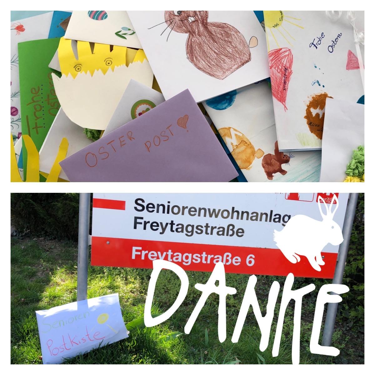 Ostergrüße für die Seniorenanlage Freytagstraße